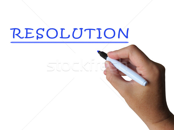 Resolution Word Shows Answer Solution Or Settlement Stock photo © stuartmiles