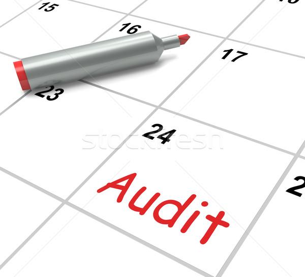 Audytu kalendarza sprawdzić Zdjęcia stock © stuartmiles