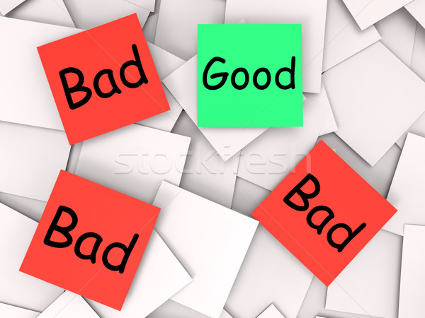 Good Bad Post-It Notes Show Excellent Or Dreadful Stock photo © stuartmiles
