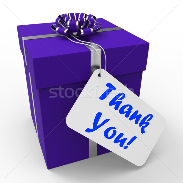 Thank You Gift Means Grateful And Appreciative Stock photo © stuartmiles