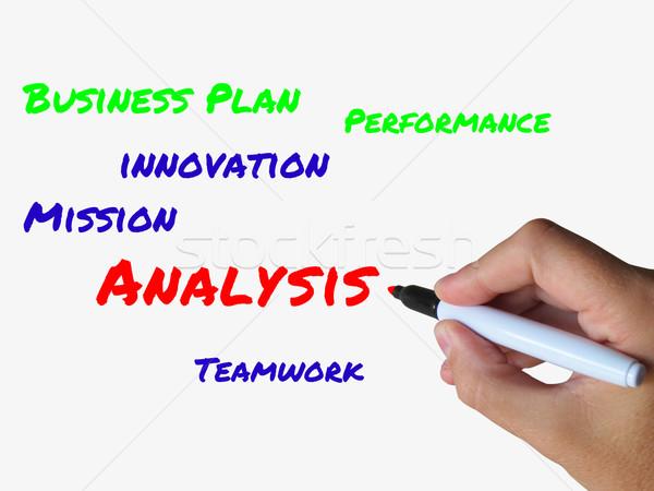 Analysis Words on Whiteboard Mean Analyzing Examining and Checki Stock photo © stuartmiles