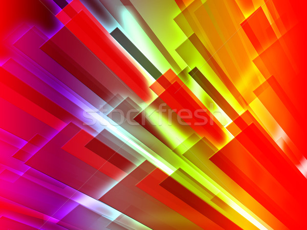 Colourful Bars Background Shows Graphic Design Or Digital Art Stock photo © stuartmiles