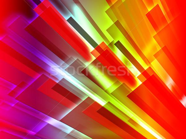 Colourful Bars Background Shows Graphic Design Or Digital Art Stock photo © stuartmiles