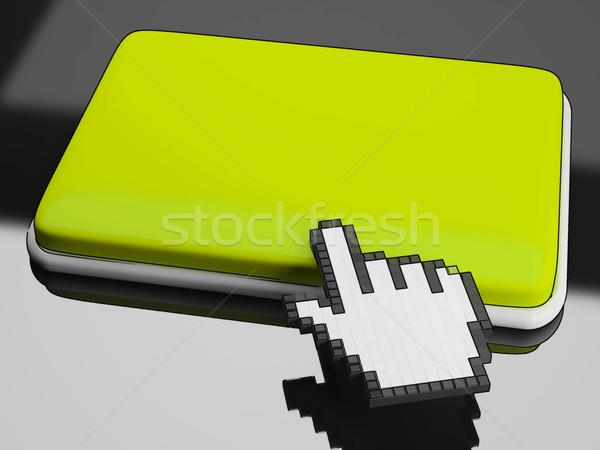 Curseur main bouton espace de copie Photo stock © stuartmiles