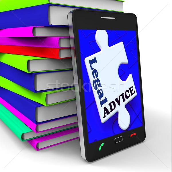 Prawnych rada smartphone adwokat wsparcie Internetu Zdjęcia stock © stuartmiles
