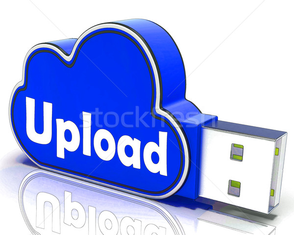 Upload Memory Shows Uploading Files To Cloud Stock photo © stuartmiles
