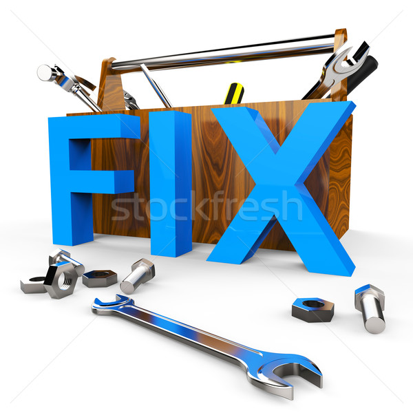 Fix Word Indicates Mend Repairs And Device Stock photo © stuartmiles