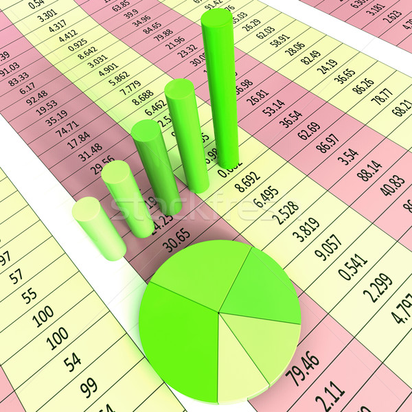 Report Graph Represents Infograph Diagram And Financial Stock photo © stuartmiles