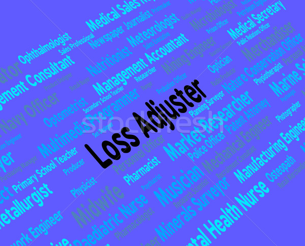 Loss Adjuster Means Work Adjustor And Hiring Stock photo © stuartmiles