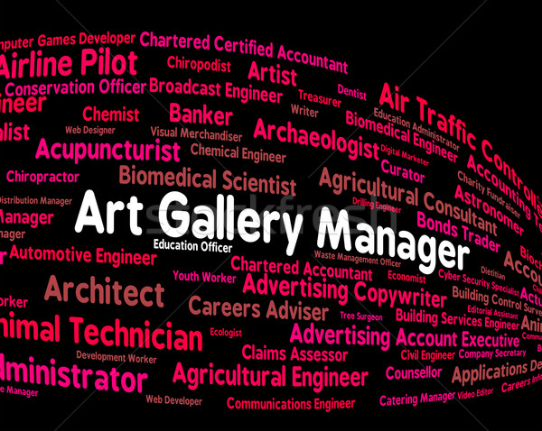 Art Gallery Manager Represents Exhibition Room And Artistic Stock photo © stuartmiles