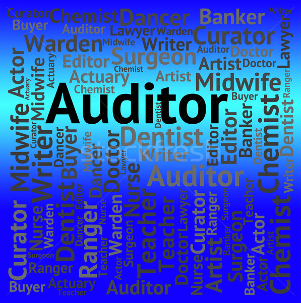 Auditor Job Shows Occupation Auditing And Jobs Stock photo © stuartmiles