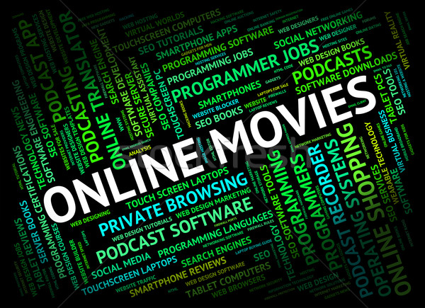 Online film world wide web cinema significato sito Foto d'archivio © stuartmiles