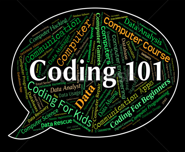 Coding Word Means Introduction Intro And Guide Stock photo © stuartmiles
