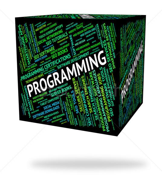 Programmazione parola software sviluppo design Foto d'archivio © stuartmiles