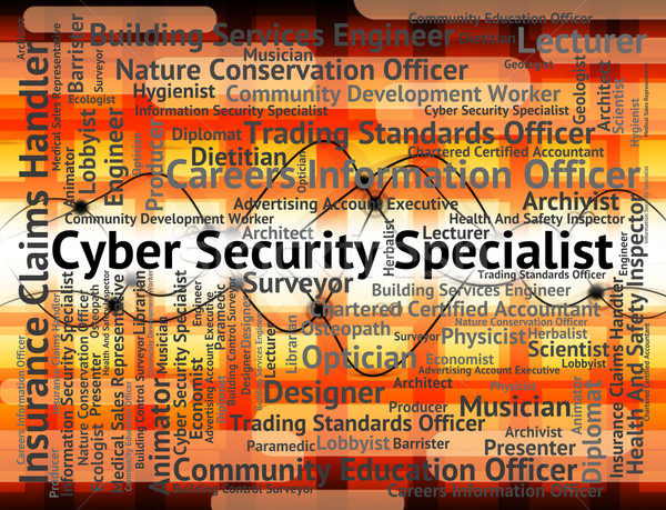 Cyber Security Specialist Shows World Wide Web And Employment Stock photo © stuartmiles