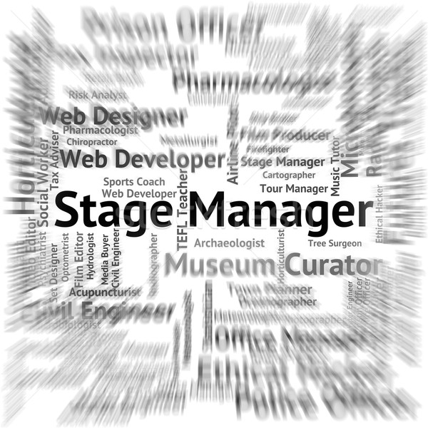 Fase manager live evenement broadway theater Stockfoto © stuartmiles