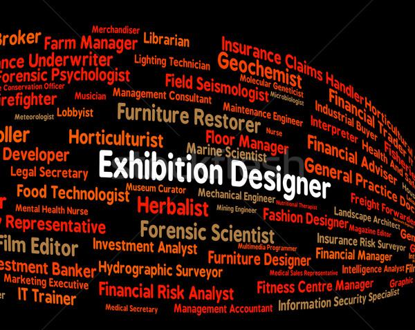 Tentoonstelling ontwerper handel eerlijke demonstratie werving Stockfoto © stuartmiles