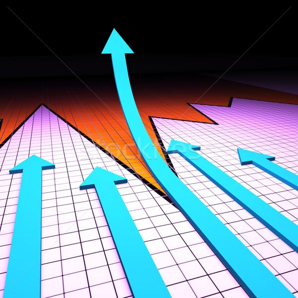 Sucesso gráfico progresso relatório análise Foto stock © stuartmiles