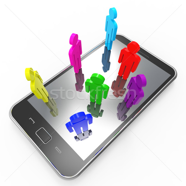 Phone Communication Means Global Communications And Chat Stock photo © stuartmiles