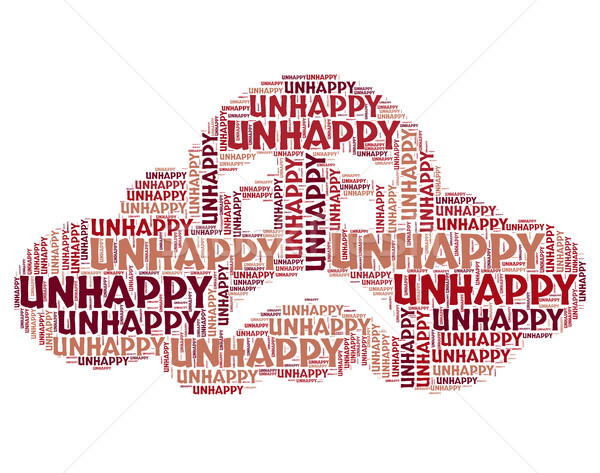 Unhappy Word Means Broken Hearted And Despairing Stock photo © stuartmiles