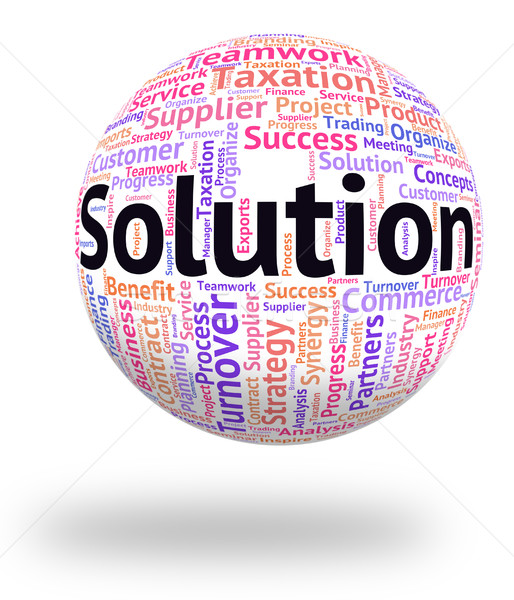 Solution Word Indicates Text Succeed And Resolution Stock photo © stuartmiles