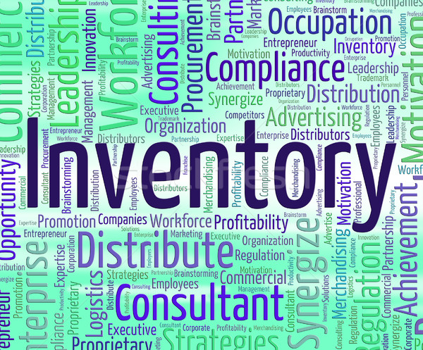 Inventory Word Shows Logistic Wordclouds And Supply Stock photo © stuartmiles