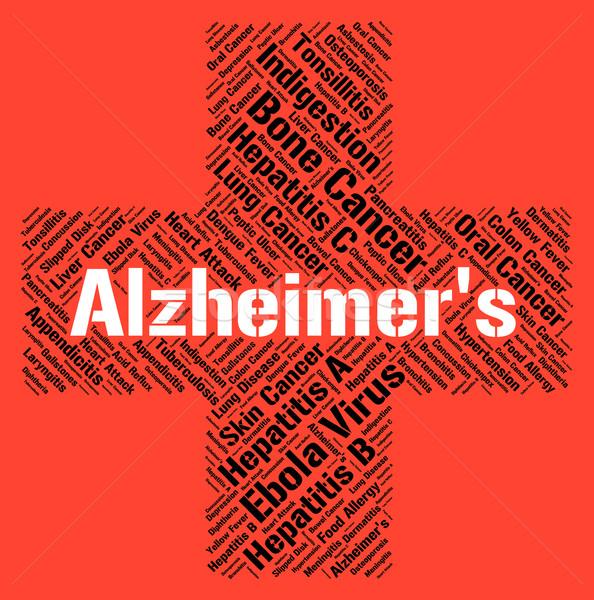 Maladie d'alzheimer problème maladie maladie handicap Photo stock © stuartmiles