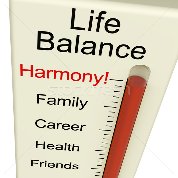 Life Balance Harmony Meter Shows Lifestyle And Job Desires Stock photo © stuartmiles