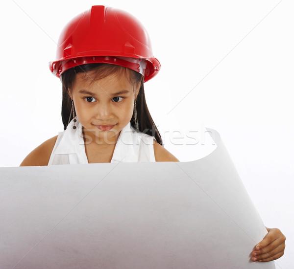 Kid роль играет инженер небольшой девушки Сток-фото © stuartmiles