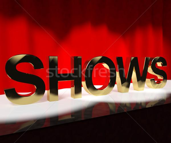 Kelime sahne konser yaşamak performans Stok fotoğraf © stuartmiles