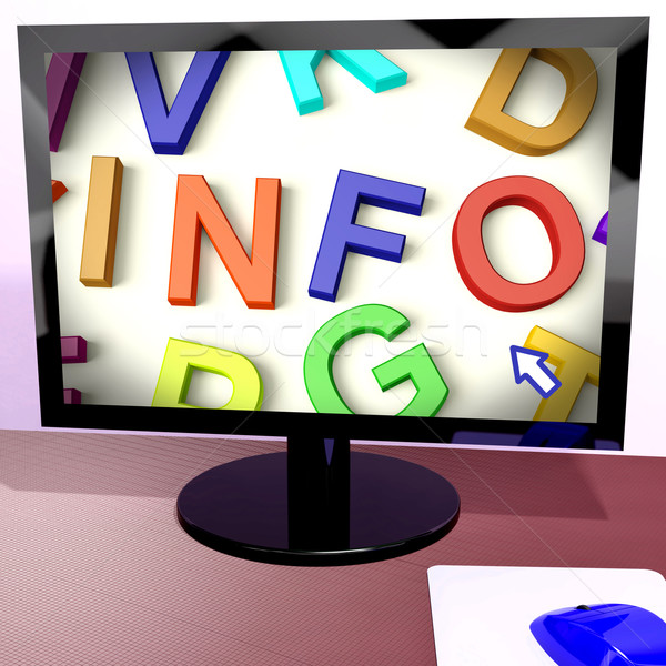 Info Button On Computer Showing Getting Information Online Stock photo © stuartmiles