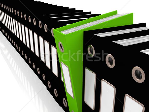 Vert fichier noir bureau organisé Photo stock © stuartmiles