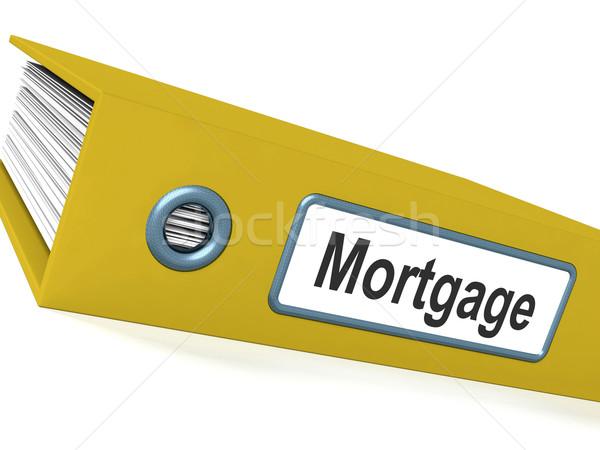 Mortgage Computer Key Showing Real Estate Borrowing Stock photo © stuartmiles