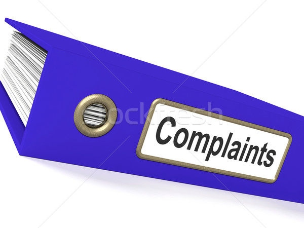 Complaints File Shows Complaint Reports And Records Stock photo © stuartmiles