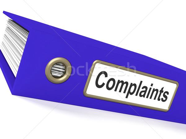 Akta panasz jelentések lemezek mutat Stock fotó © stuartmiles