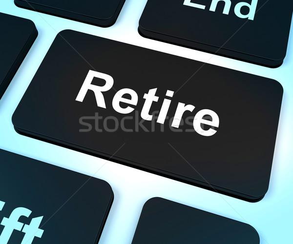 Retire Key Shows Retirement Planning Online Stock photo © stuartmiles