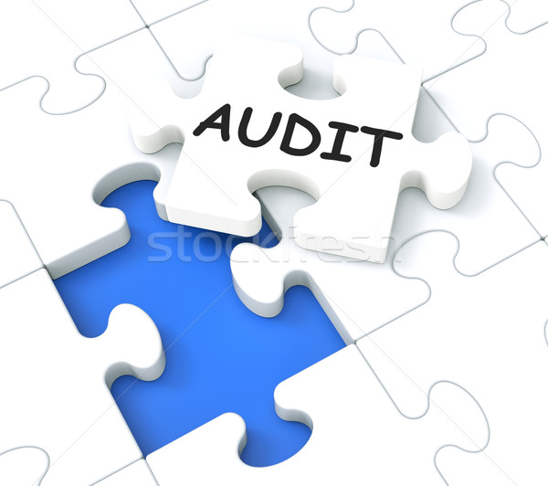Stock photo: Audit Puzzle Shows Auditing And Reports