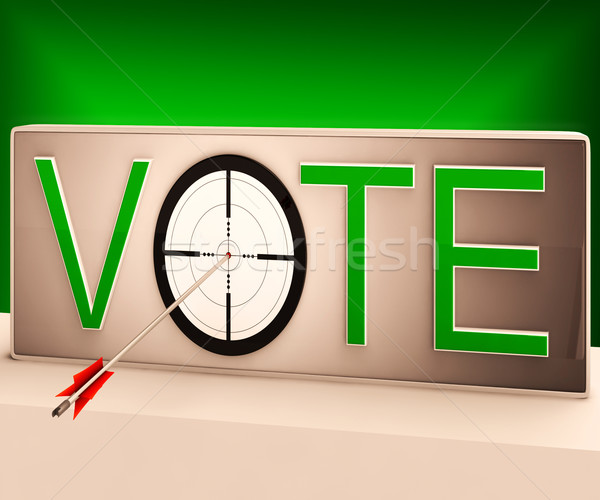 Vote Target Shows Evaluation Choice And Decision Stock photo © stuartmiles
