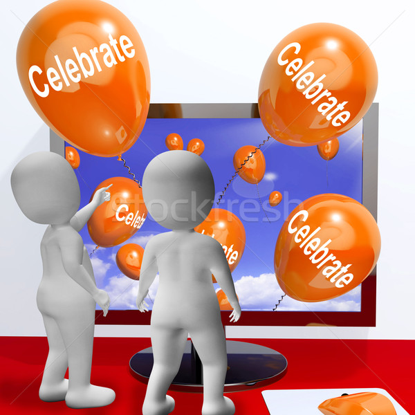 Celebrate Balloons Mean Parties and Celebrations Online Stock photo © stuartmiles