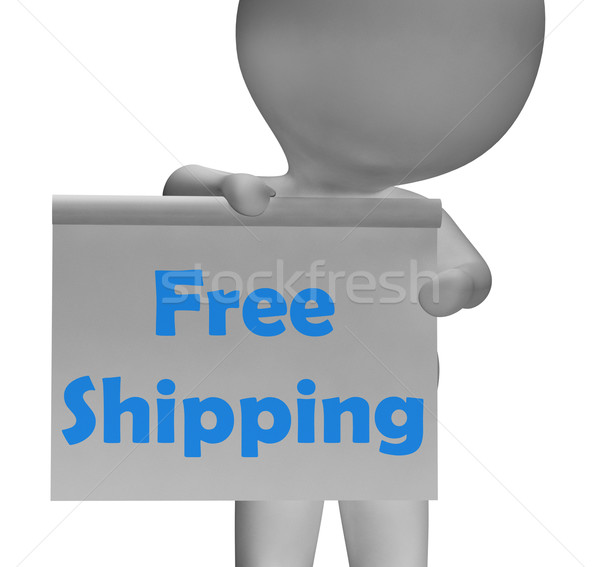 Free Shipping Sign Means Product Shipped At No Cost Stock photo © stuartmiles