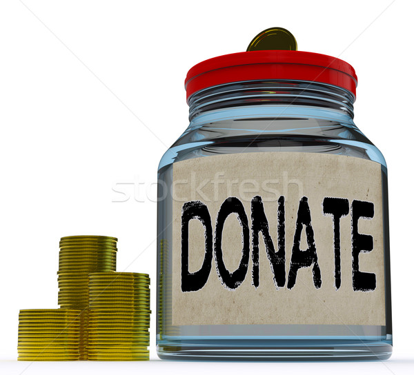 Donate Jar Shows Fundraising Charity And Contributions Stock photo © stuartmiles