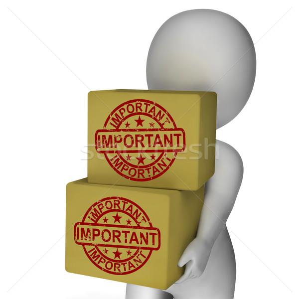 Fontos dobozok előadás magas prioritás kritikus Stock fotó © stuartmiles
