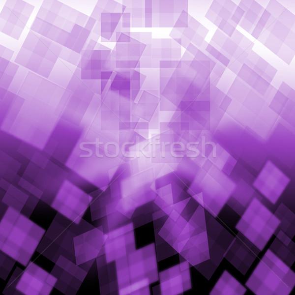 Púrpura cubos repetitivo patrón wallpaper significado Foto stock © stuartmiles