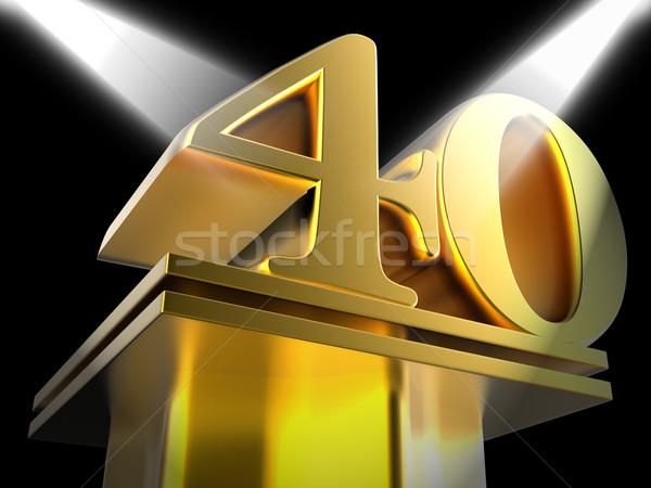 Złoty czterdzieści błyszczący kina Zdjęcia stock © stuartmiles