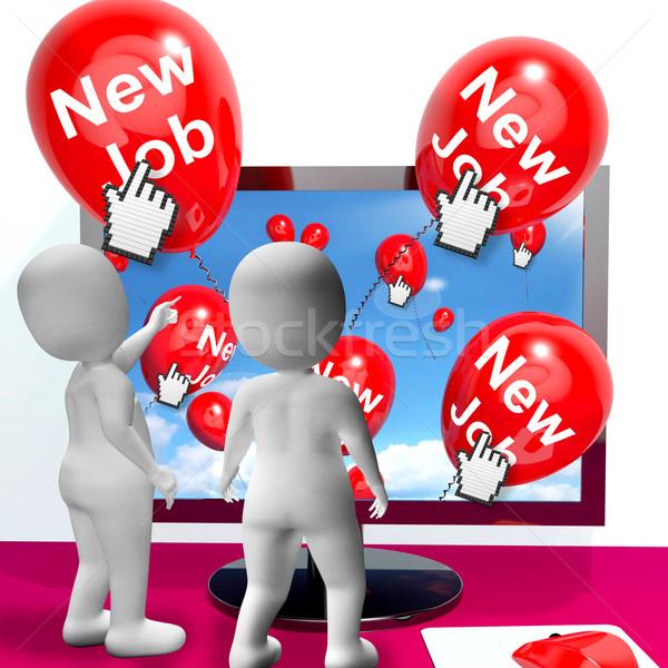 Balões mostrar internet parabéns novo Foto stock © stuartmiles