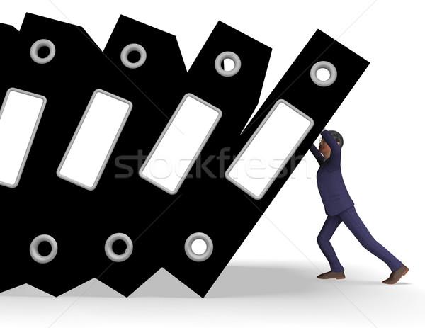 Informations surcharge connaissances administration organisé homme d'affaires Photo stock © stuartmiles