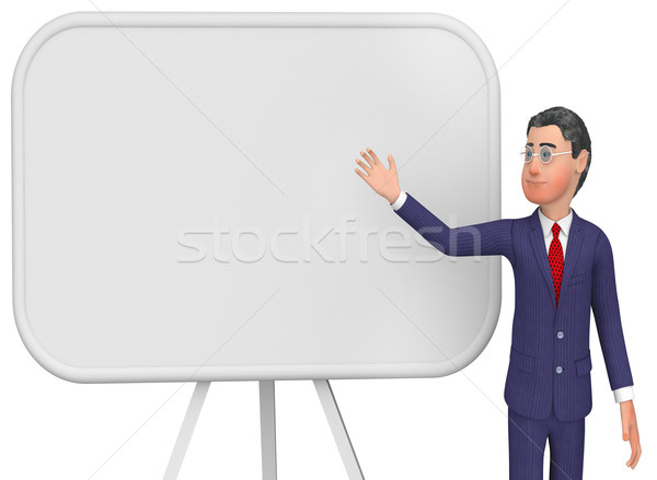 Businessman Presenting Indicates Blank Space And Board Stock photo © stuartmiles