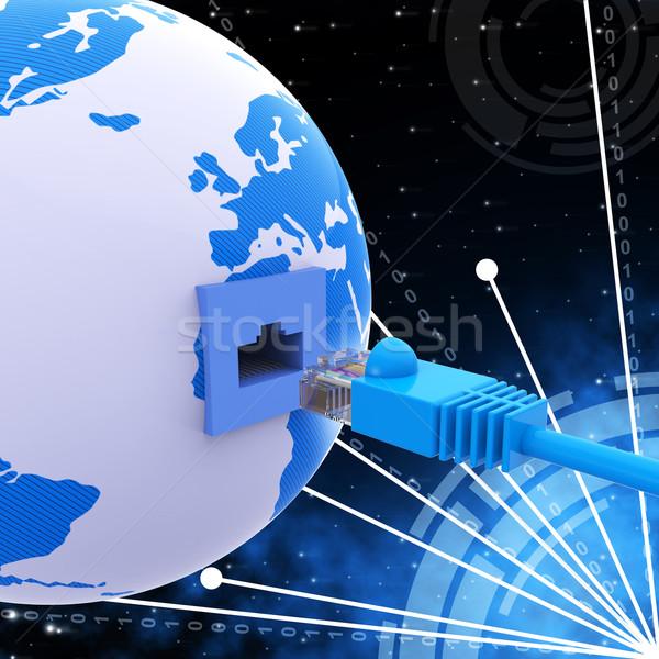 Világszerte kapcsolat hálózat szerver számítógép mutat Stock fotó © stuartmiles