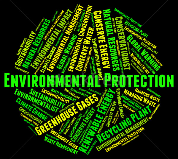 Environmental Protection Means Save Conserving And Word Stock photo © stuartmiles