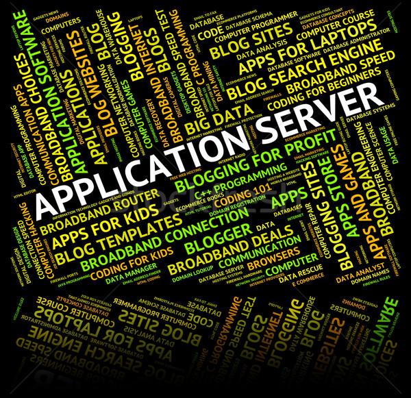 Alkalmazás szerver számítógép szerverek applikációk jelentés Stock fotó © stuartmiles